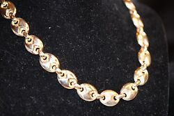 32.8 Grams Of Italian 14k Y Gold In 16 Necklace With Unusual White Gold Clasp