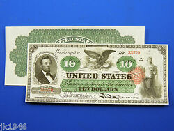 Reproduction 10 1863 Legal Tender Note Us Paper Money Currency Copy