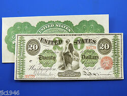 Reproduction 20 1863 Legal Tender Note Us Paper Money Currency Copy