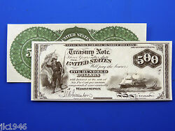 Reproduction 500 1864 Compound Interest T-note Us Paper Money Currency Copy