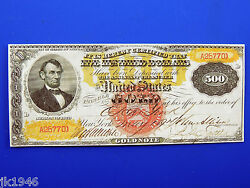 Reproduction 500 1870 Gold Cert. Uni-face Note Us Paper Money Currency Copy