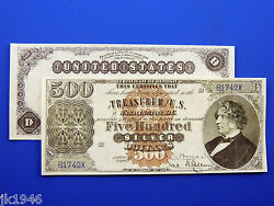 Reproduction 500 1880 Silver Certificate Note Us Paper Money Currency Copy