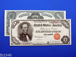 Reproduction 500 1891 Treasury Note Us Paper Money Currency Copy