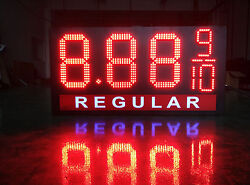 Led Gas Price Sign 12 X 40 Red Or Green   Financing Available