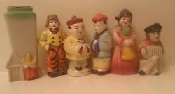 6 Vintage Salt And Pepper Shakers Made In Occupied Japan 3.5in Minatures
