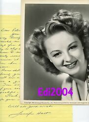 Jennifer Holt Vintage Original 1943 Photo And Rare Autograph Letter And Envelope