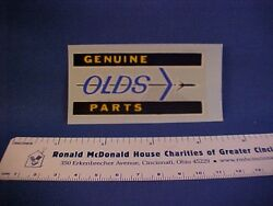 Genuine Olds Parts Oldsmobile Car Show Detailing Decal From Old Stock--nice