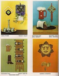 PD1143 Sun Wall Hanging amp; Wine Rack Patterns in Macrame on the Move Craft Book