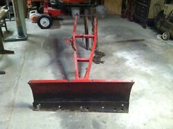 Snow Blade Attachment And Lift For A 1985 Wheel Horse Tractor And Other