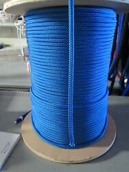 1/4 X 100and039 Sailhalyard Line Jibsheets Double Braid Rope Royal Blue 2100 Lb