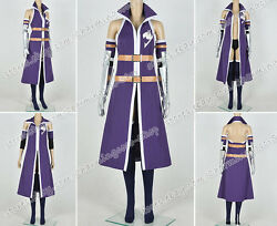 Fairy Tail Cosplay Titania Erza Scarlet Costume Purple Uniform High Quality Cool