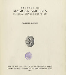 Studies In Magical Amulets,chiefly Graeco-egyptian,abraxas, Demons, Magic, Witch