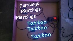 Tattoo And Piercings Neon Sign Wall Or Window Art Kit Raw Tubes And Transformer