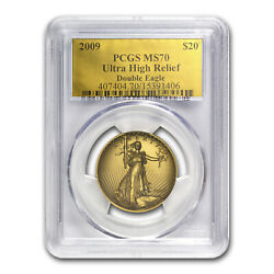 2009 Ultra High Relief Double Eagle Ms-70 Pcgs Gold Foil Label