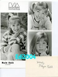 Mayim Bialik Vintage Original Rare Photo And Autograph Card Early In Career