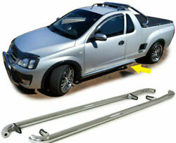 Stainless steel footboard side step pipes for Opel Corsa Utility Chevrolet