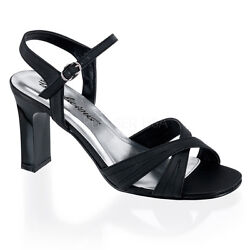 Pleaser Rom313/b/spu Womenand039s Criss Cross Low Square Heels Black Sandals Shoes
