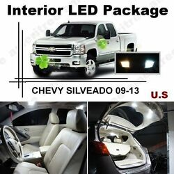 White LED Lights Interior Package Kit for Chevy silverado 2009 - 2013 (12 Pcs )