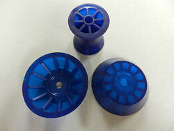 3 Blue Pvc Bow Roller And Large Bell End Cap Assembly Marine Boat Trailer