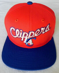 Los Angeles Clippers Nba Vintage Snapback Adidas 2-tone Cap Hat New Red/royal 4
