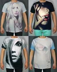 Kayden.k Menand039s Sublimation Sexy Lady Portrait All Over Print Tee S-xl