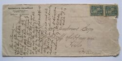 1900 Sheriff Hawaii Police Cover Forwarded With Multiple Different Town Cancels