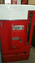 Antique 1950 Coca Cola Machine 10 Select White And Red Original Vendo 110 D