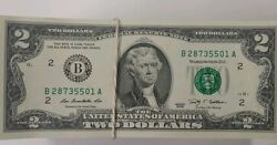 Lot Of 10 2 Two Dollar Bills 2013 Series New York B Notes Consecutive W07