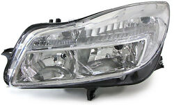 Clear chrome finish Left side headlight front light for Opel Insignia 08-12