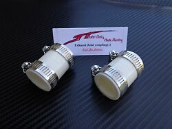White Yamaha Banshee Quad Exhaust Pipe Clamps All Years Fmf,dg, Factory Atv