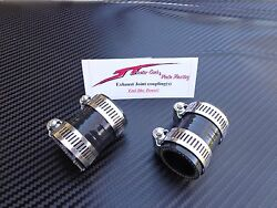 Black Yamaha Banshee Quad Exhaust Pipe Clamps All Years Fmf,dg, Factory Atv