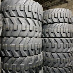 12x16.5 - 4 New Road Crew Tw171, 12-16.5 14 Ply Skid Steer Tires Sks Rimguard
