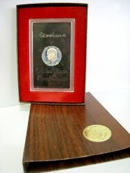 1972 Eisenhower Proof 40 Silver Dollar In A Brown Box Us Coin