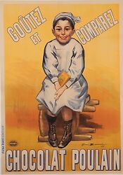Original Vintage French Poster Advertising Chocolat Poulain By Firmin Bouisset