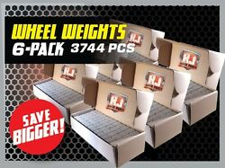 6 Boxes 1/4 Oz. Stick-on Adhesive Tape Wheel Weights 3744 Pieces-936 Oz.