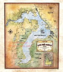 68 Idaho Pend Oreille Vintage Historic Antique Map Painting Poster Print