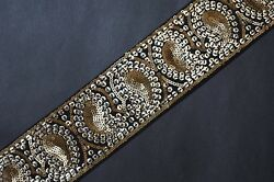 Jasdee Vintage Border Trim 2 1 2quot; Width Hand Work Sequins By Yard Style A1239