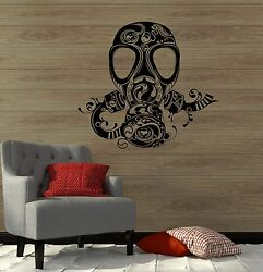 Wall Decal Gas Mask Respirator Military Vinyl Stickers Ig2933