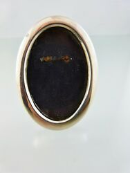 Plain Oval Picture Or Photo Frame Small Cloth Back By Norway 830s