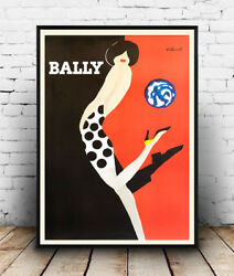 Bally Vintage Advertising Reproduction Poster Wall Art.