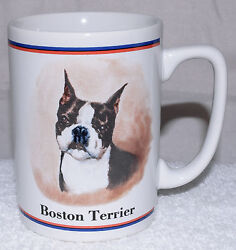 Boston Terrier Dog Lover Gift Coffee Cup Mug Maystead Portraits Papel Dog Breed