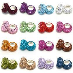 925 Sterling Silver Birthstone Spacer Bead For Charm Bracelets