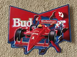 Budweiser Hand Painted Limited Edition 1 Of Only 92 Indy Car Metal Beer Sign