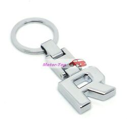 For Mercedes-benz R Series Chrome Metal Keychain Keyring Key Chain Chains Ring