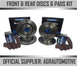 Oem Spec Front + Rear Discs And Pads For Honda Civic 1.6 Ep2 2001-06