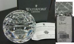 Waterford Crystal Basketball - 2011 Ncaa Connectic Uconn Huskies,4 Of 5000 New