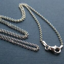 Sterling Silver Rolo Necklace Chain 2mm 16 To 40 Inch. Ready For Pendant
