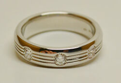 Hearts On Fire Men's Duets Burnished Band .50 Ctw Diamonds 18k Gold 9 3/4