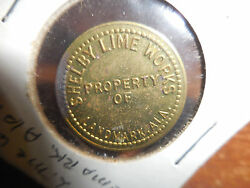 Rare Shelby Lime Works Landmarkala. 4 Cent Token
