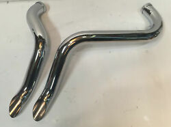 1 3/4 Chrome Laf L.a.f Drag Pipes Exhaust Harley Softail Touring Dyna Sportster